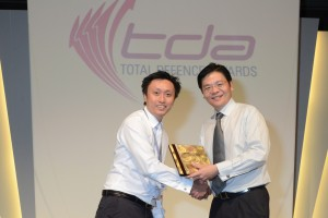Fredrik Marine awarded the Distinguished Defence Partner Award 2012